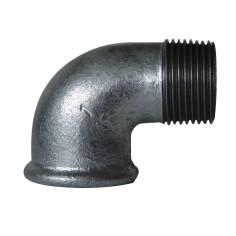 Coude à 90° M/F en acier galvanisé