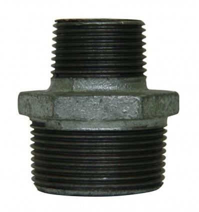 Réduction M/M en acier galvanisé
