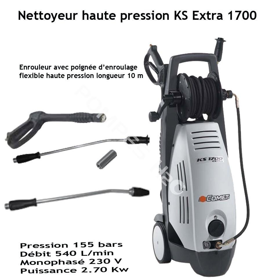 Nettoyeur haute pression eau froide ks extra 1700 pompes h2o for Haute pression