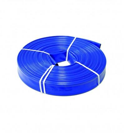 Tuyau enroulable à plat PVC double couche - diamètre 70 mm / PS 7 bar (au ml)