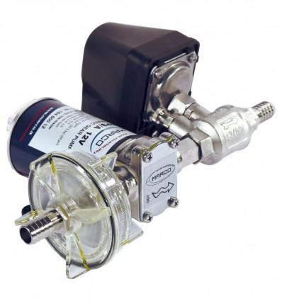 Groupe de pression 12/24V - Débit 15 l/min - Pression 2.5 bars - Modèles UP3/A