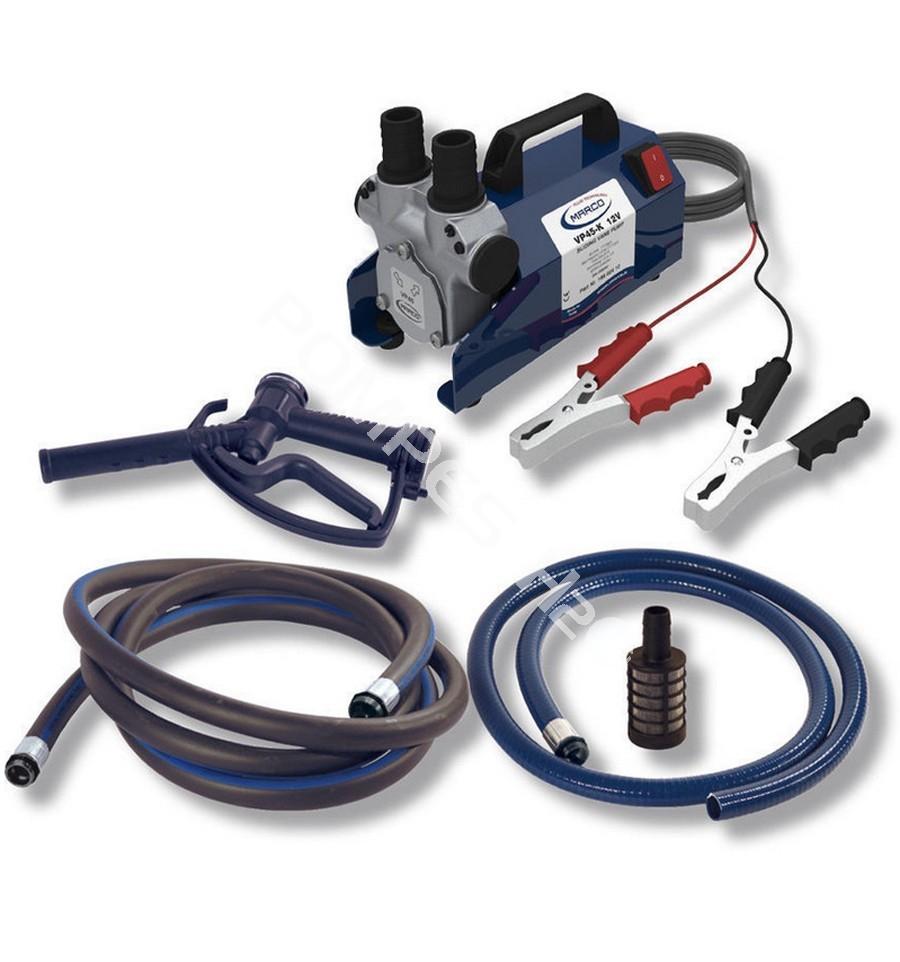kit pompe gasoil transportable alimentation 12 24 vcc auto amor ante d bit 45 l min avec. Black Bedroom Furniture Sets. Home Design Ideas