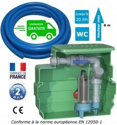 Kit station de relevage eaux chargées + Tuyau PVC 25m
