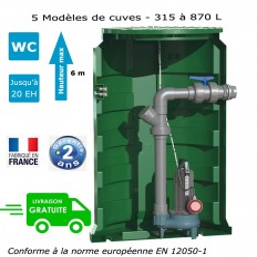 "Poste de relevage 1 pompe ""roue vortex"" (0.55Kw - 230V)"