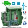 Station de relevage eaux chargées avec pompe 1.10 Kw - Pompe vortex - Pied d'assise et guidage