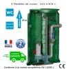 Station de relevage eaux chargées - Calpeda Calidom GQVM 50-13 - 1.10 Kw monophasé