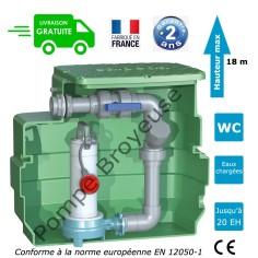 Station de relevage avec pompe broyeuse Calpeda GQG 1.50 Kw