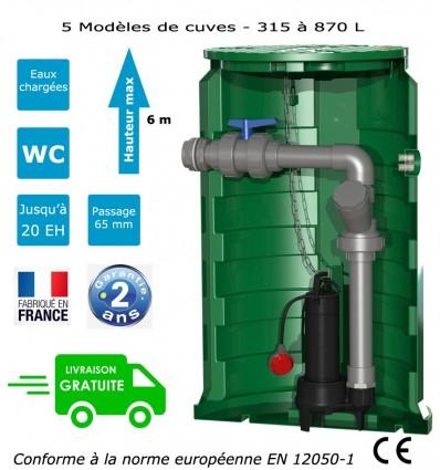 Station de relevage eaux chargées Calpeda Calidom DGOM 65 (1.10 Kw)