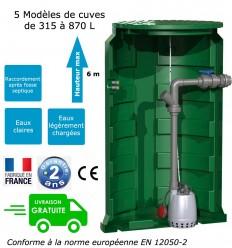Station de relevage sortie de fosse toutes eaux, pour eaux claires ou légèrement chargées