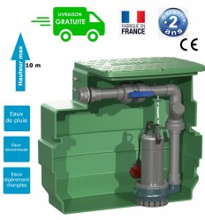 Pump station : 1 pump open impeller (0.55kw or 1.10kw - 230V) & capacity tank 230