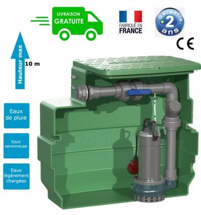 Poste de relevage pour eaux claires ou l g rement charg es maxi 30 m3 h for Poste de relevage