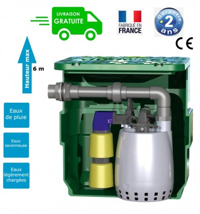 Micro station de relevage 40 L Calpeda pour eaux claires