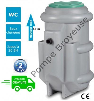 Station de relavage 1 pompe eaux usées (400V) FLYGT MICRO 6 PA