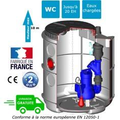Station de relevage eaux chargées Sébico Drain'up avec pompe Ama Porter 501 puissance 0.75 Kw, pompe sur trépied
