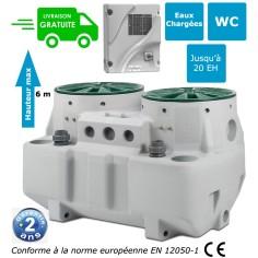 Poste de relevage FLYGT Micro 6 + 6 avec 2 pompes DXVM 50-7 - puissance 0.75 Kw monophasé