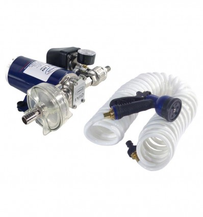 Kit pompe électrique 12/24V lavage pression 5 bars - DP12-KIT