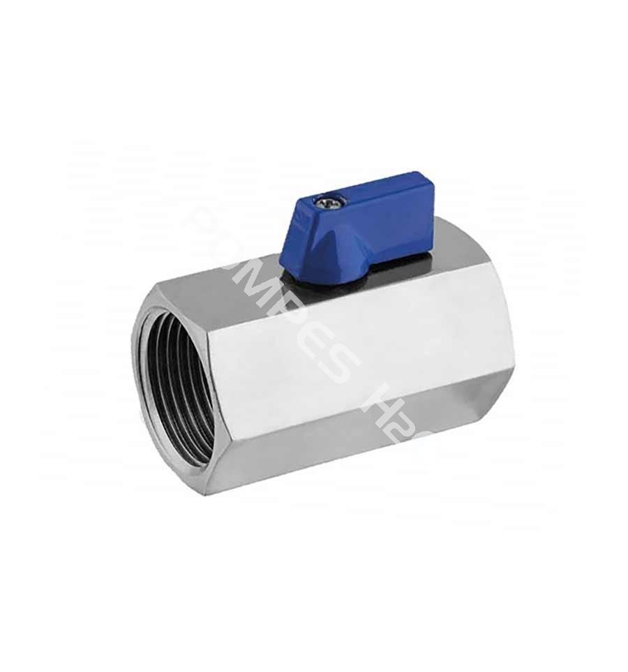 Mini vanne boisseau sph rique inox 316 f f pompes h2o - Vanne a boisseau spherique ...