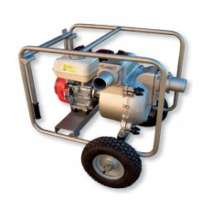 Motopompe eaux chargées essence sur chariot KTH 80