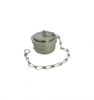 Stainless steel cap with lock and chain