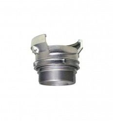 Stainless steel AISI 316 male symmetrical half coupling with lock