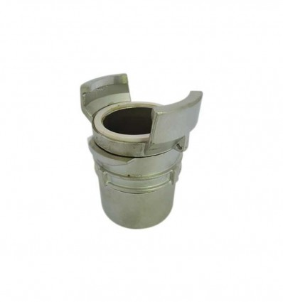 Stainless steel AISI 316 female symmetrical half coupling with lock