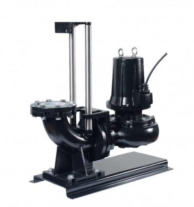 Kit pompe de relevage Fonte roue vortex DN100 - PA-KV (4 pôles)