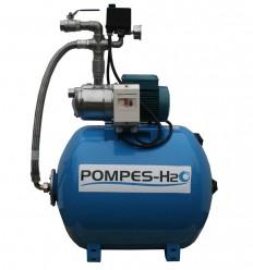 Groupe surpresseur 100L Pompe JET INOX 230V ou 400V - 0.75 ou 1.10 Kw - Pompage et transfert d'eau potable