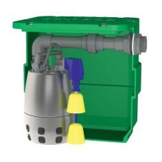Station de relevage eaux usées domestique 40L avec pompe toute inox roue vortex 0.25 Kw