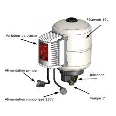 Variateur de vitesse pompe monophasé avec surpresseur 19L POWERVAREM