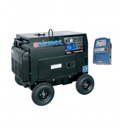 Groupe électrogène Diesel monophasé 4.5 Kw avec boitier ATS