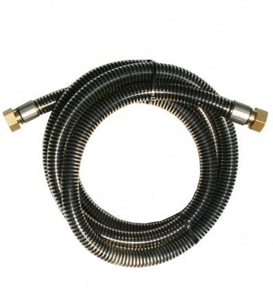 Tuyau PVC spécial gasoil équipé avec raccord cannelé à visser