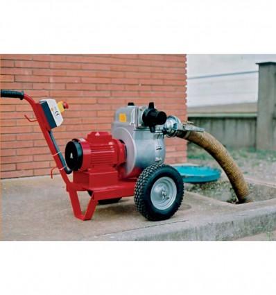Pompe de chantier autoamor ante sur chariot - Pompe auto amorcante ...