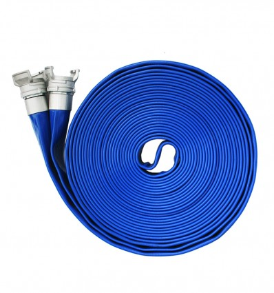 Tuyau plat PVC double couche DN65 sertis avec raccord Guillemin