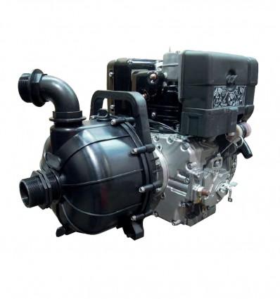 Motopompe diesel DN50 liquides agressifs, eau de mer - PLASTIK-50D