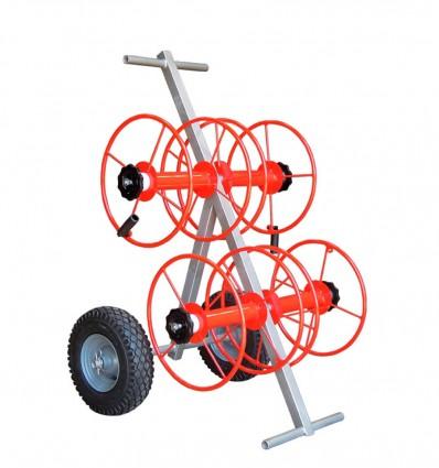 Chariot 4 dévidoirs tuyaux plat DN45 ou DN25