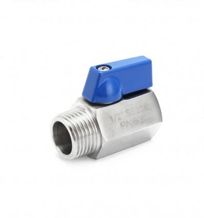 Mini vanne sphérique inox 316 M/F