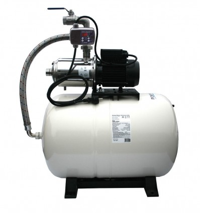 Surpresseur 100 litres avec pompe multicellulaire auto-amorçante toute inox