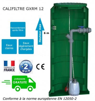 Station de relevage après filtre fosse toutes eaux - CALIFILTRE