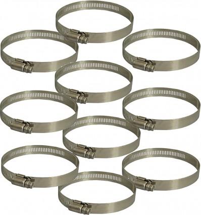 Colliers de serrage largeur 12 mm inox 304 (x10)
