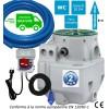 Kit station de relevage Flygt Micro 6 - Eaux usées, chargées habitation avec tuyau PVC et alarme trop plein - Puissance 0.75 Kw