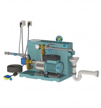Kit gestionnaire récupération eau de pluie Calpeda GEP24 E NGXM2-80 FB
