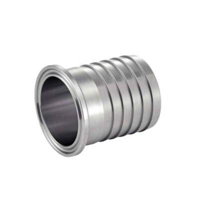 Ferrule clamp ISO cannelé inox 316L