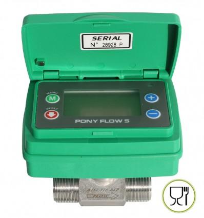 Compteur volumétrique liquides alimentaires PONY FLOW 9V