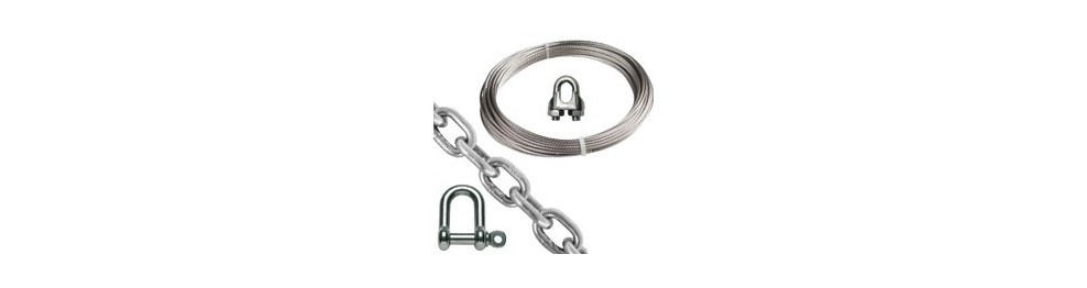 Stainless steel cable and chain